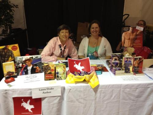 Me with Author Laura Drake at our PBR Fan Zone booth
